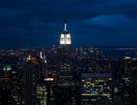 Empire State Building by night, New York City